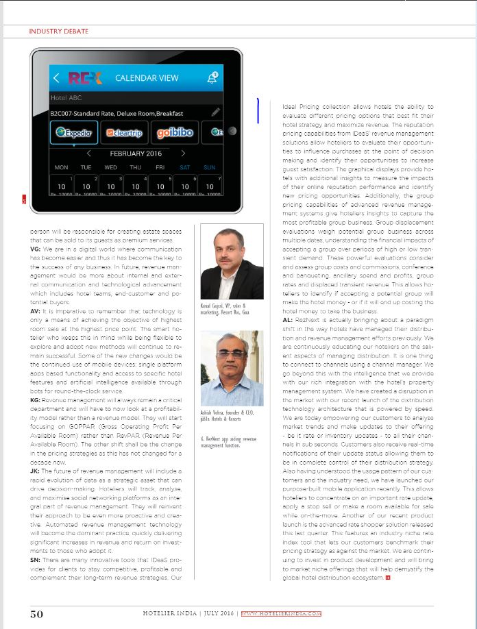 ceo-mr-ashish-vohra-on-revenue-management-featured-in-hotelier-india-july-2016