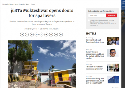 justa-mukteshwar-featured-in-hospitality-world-from-economic-times