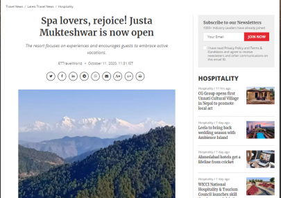 justa-mukteshwar-featured-in-travel-world-from-the-economic-times