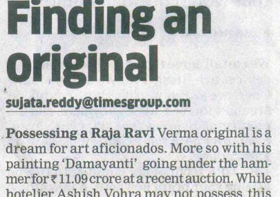 mr-ashish-vohra-featured-in-et-panache-for-his-unexpected-discovery-of-raja-ravi-verma